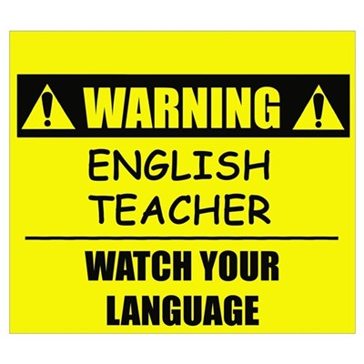 WARNING: English Teacher Canvas Art