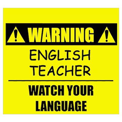 English Teacher Posters | English Teacher Prints & Poster Designs