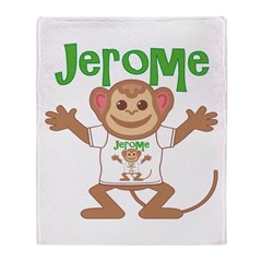Little Monkey Jerome Throw Blanket