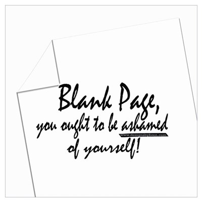 Blank Page Canvas Art