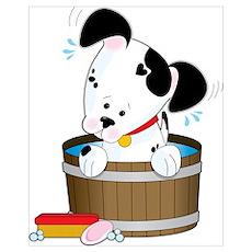 Doggie Bath Poster