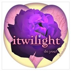 itwilight Do You? Purple Rose of Love Poster