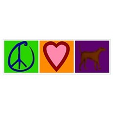 Peace Love Chocolate Labs Poster