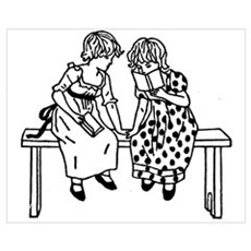 Little Readers Framed Print