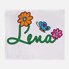 Lena Flowers Throw Blanket