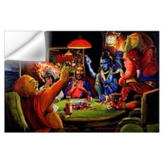 Gods Playing Poker Wall Decal