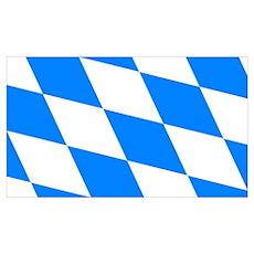 Bavarian flag (oktoberfest ) Poster