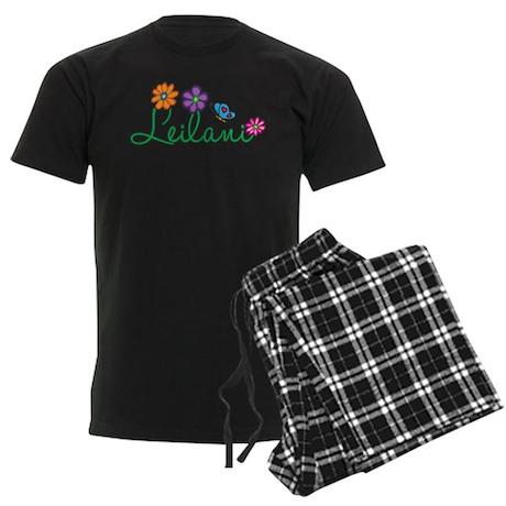 Leilani Flowers Men's Dark Pajamas