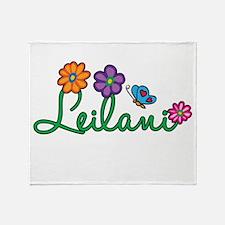 Leilani Flowers Throw Blanket