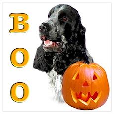 Halloween Cocker Boo Poster