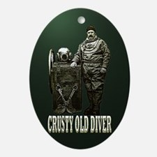 Crusty Old Diver Pumped Ornament (Oval)