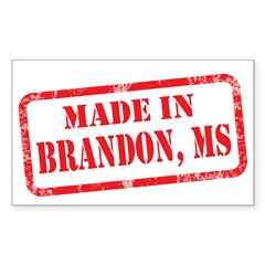 MADE IN BRANDON, MS Sticker (Rectangle)