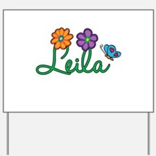 Leila Flowers Yard Sign