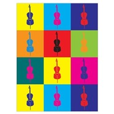 Cello Pop Art Poster