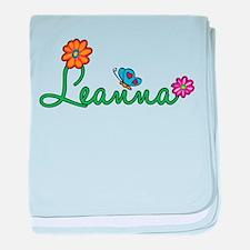 Leanna Flowers baby blanket