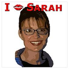 I (lipstick) Sarah Poster