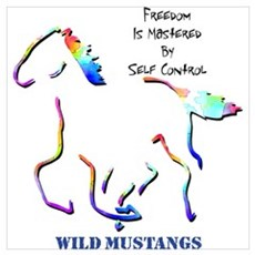 Wild Mustangs Canvas Art