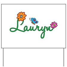 Lauryn Flowers Yard Sign