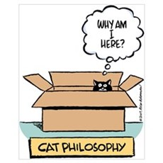 Cat Philosophy Framed Print