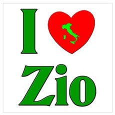 I Love (heart) Zio Canvas Art