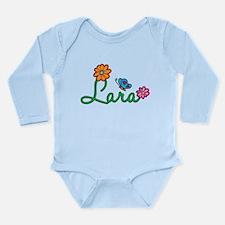 Lara Flowers Long Sleeve Infant Bodysuit