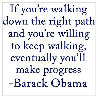 Obama on Progress Poster