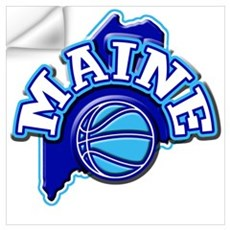 Maine Basketball Wall Decal