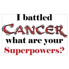 I Battled Cancer Poster