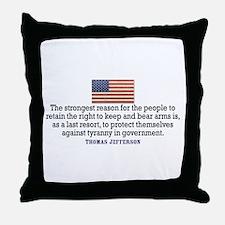 Jefferson 2nd Amendment Throw Pillow