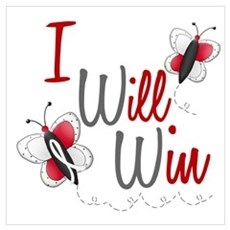 I Will Win 1 Butterfly 2 PEARL/WHITE Poster