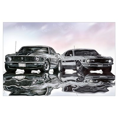 1970 Ford Mustang Poster