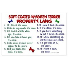 Soft Coated Wheaten Terrier Property Laws 2 Large Poster