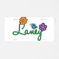 Laney Flowers Aluminum License Plate