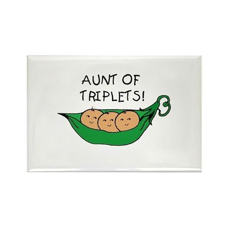 Aunt of Triplets Rectangle Magnet