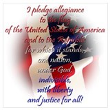 Pledge of allegiance Framed Prints