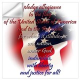 Pledge of allegiance Wall Decals