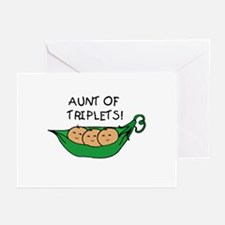 Aunt of Triplets Greeting Cards (Pk of 10)