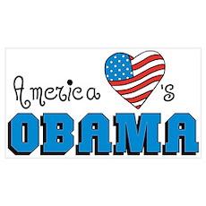 America Loves Obama Poster
