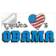 America Loves Obama Wall Decal