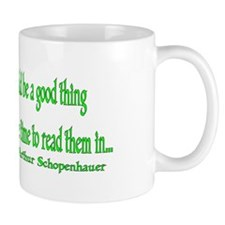 Buying books would be a good thing... Mug