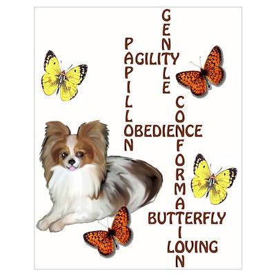 papillon crossword puzzle Poster
