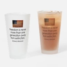 Freedom is never more... Drinking Glass