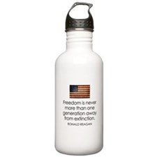 Freedom is never more... Sports Water Bottle