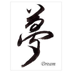"""""""Dream"""" Japanese Kanji Poster"""