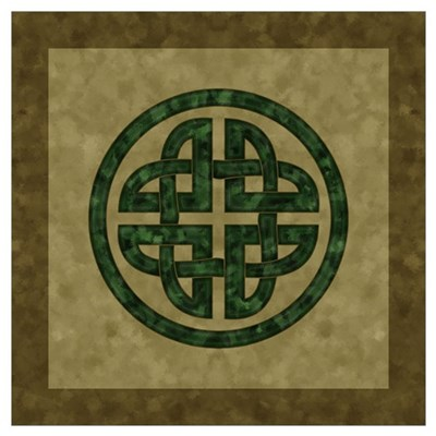 Green Celtic Knot Poster