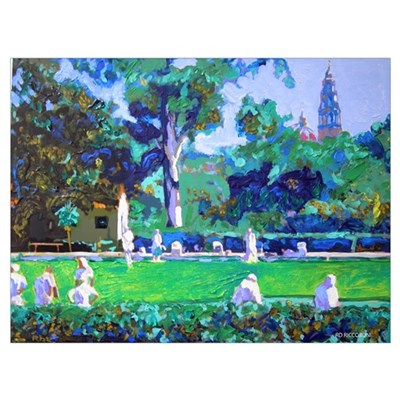 Lawn Bowling in the Park Framed Print