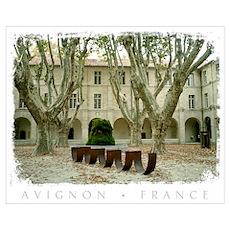 Avignon Courtyard Poster