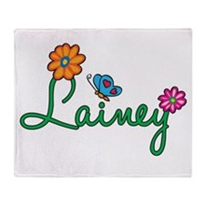 Lainey Flowers Throw Blanket