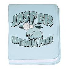 Jasper Natl Park Mountain Goat baby blanket