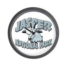 Jasper Natl Park Mountain Goat Wall Clock